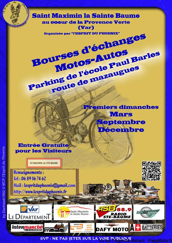 Bourses d'échanges Motos-Autos - Saint-Maximin-la-Sainte-Baume (83) @ Parking de l'école Paul Barles | Saint-Maximin-la-Sainte-Baume | Provence-Alpes-Côte d'Azur | France