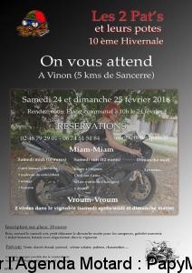 10e hivernale Les 2 Pat's et leurs potes - Vinon (18) @ Etang Communal | Vinon | Centre-Val de Loire | France