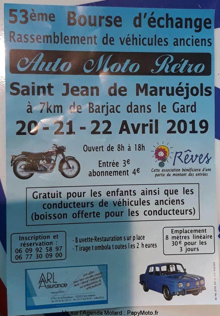 53e Bourse d'échange Auto Moto Rétro – St Jean de Maruéjols (30) @  St Jean de Maruéjols (30)