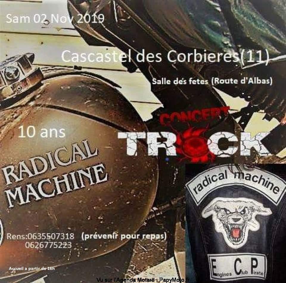 10 Ans Radical Machine - Cascastel des Corbières (11) @ Salle des Fêtes | Cascastel-des-Corbières | Occitanie | France
