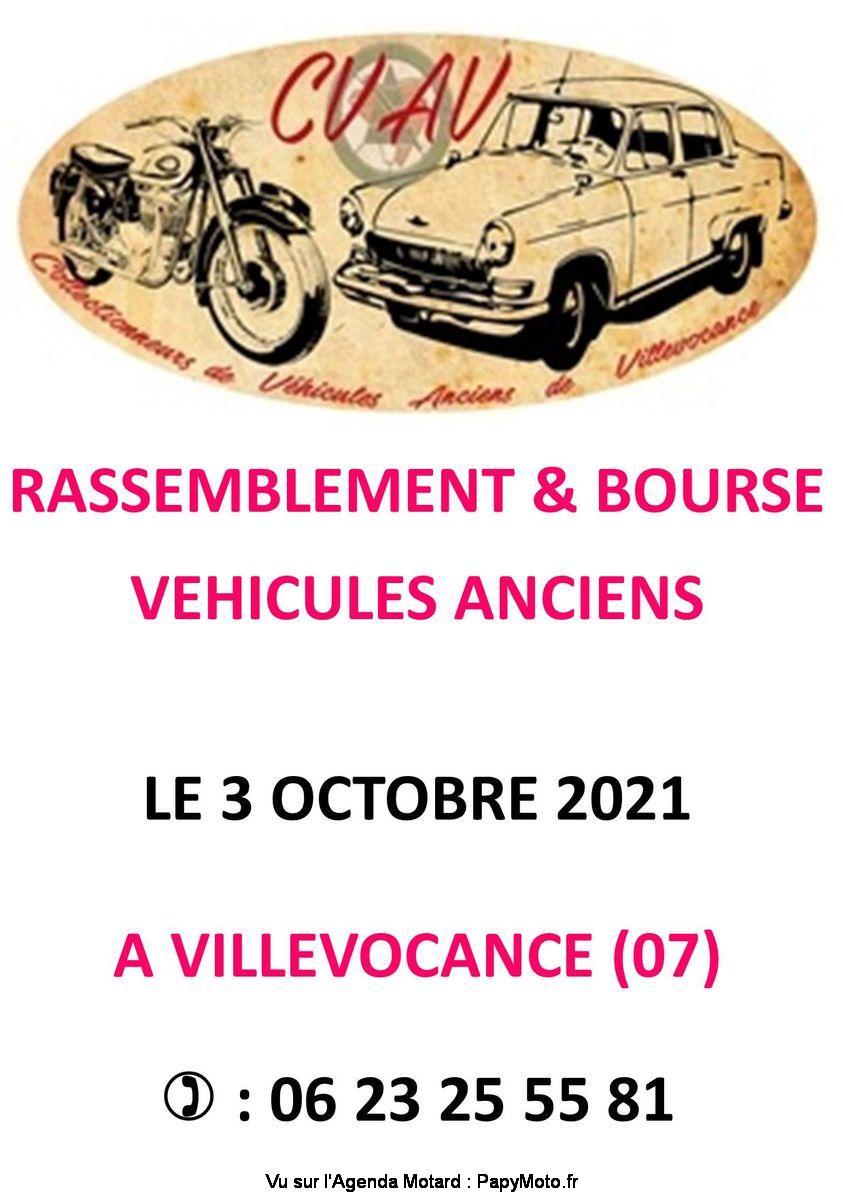 Rassemblement et bourse de véhicules anciens – Villevocance (07) @ Villevocance (07)